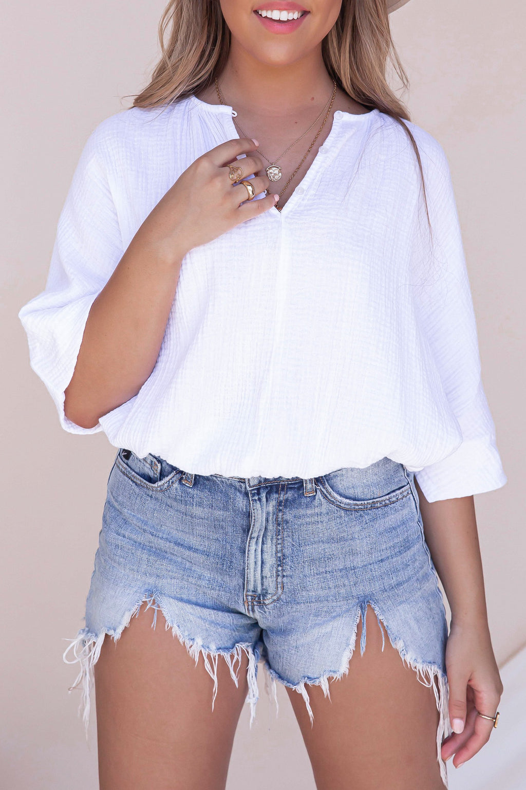Harbor Gauze Top- FINAL SALE | LLACIE