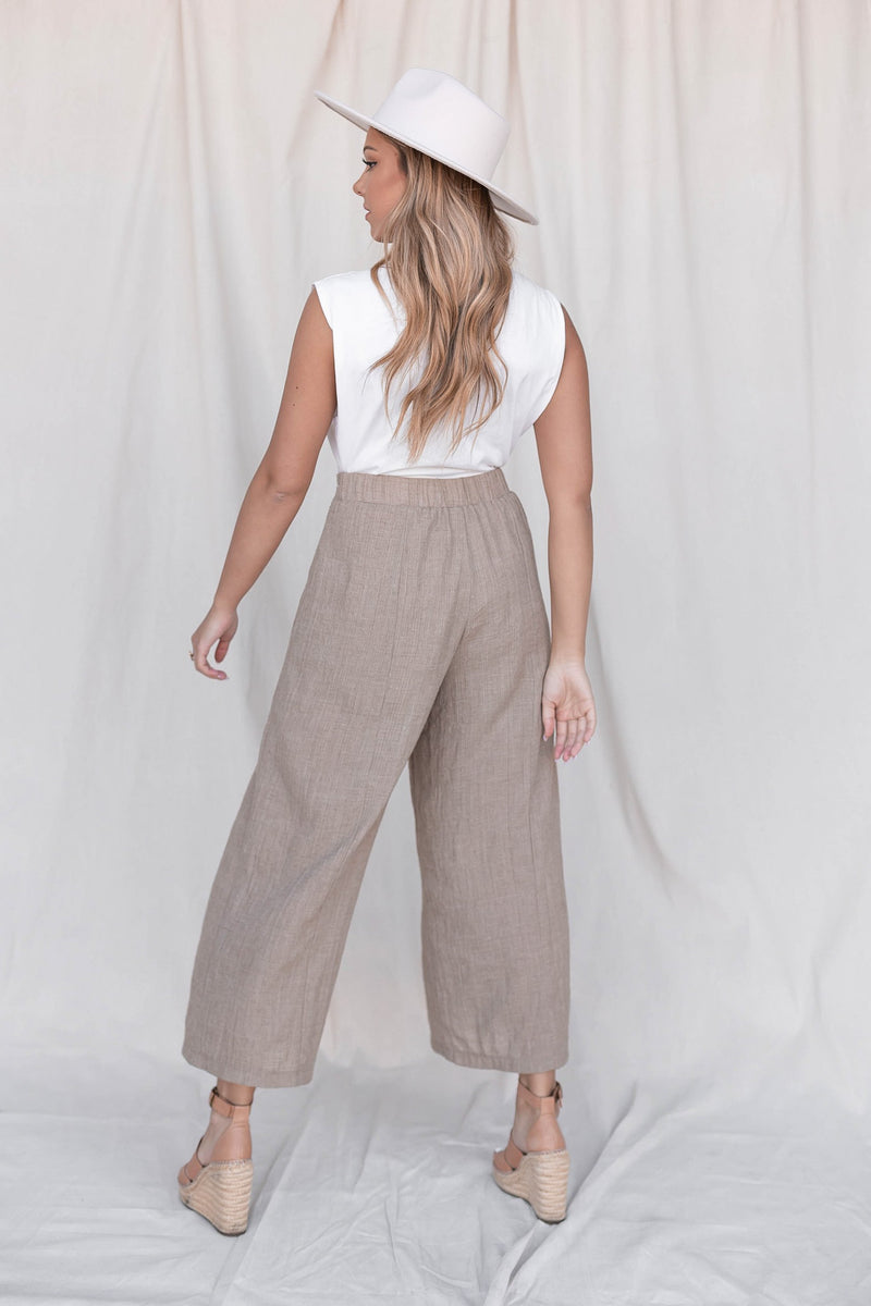 Luna Toffee Cotton Pants - LLACIE