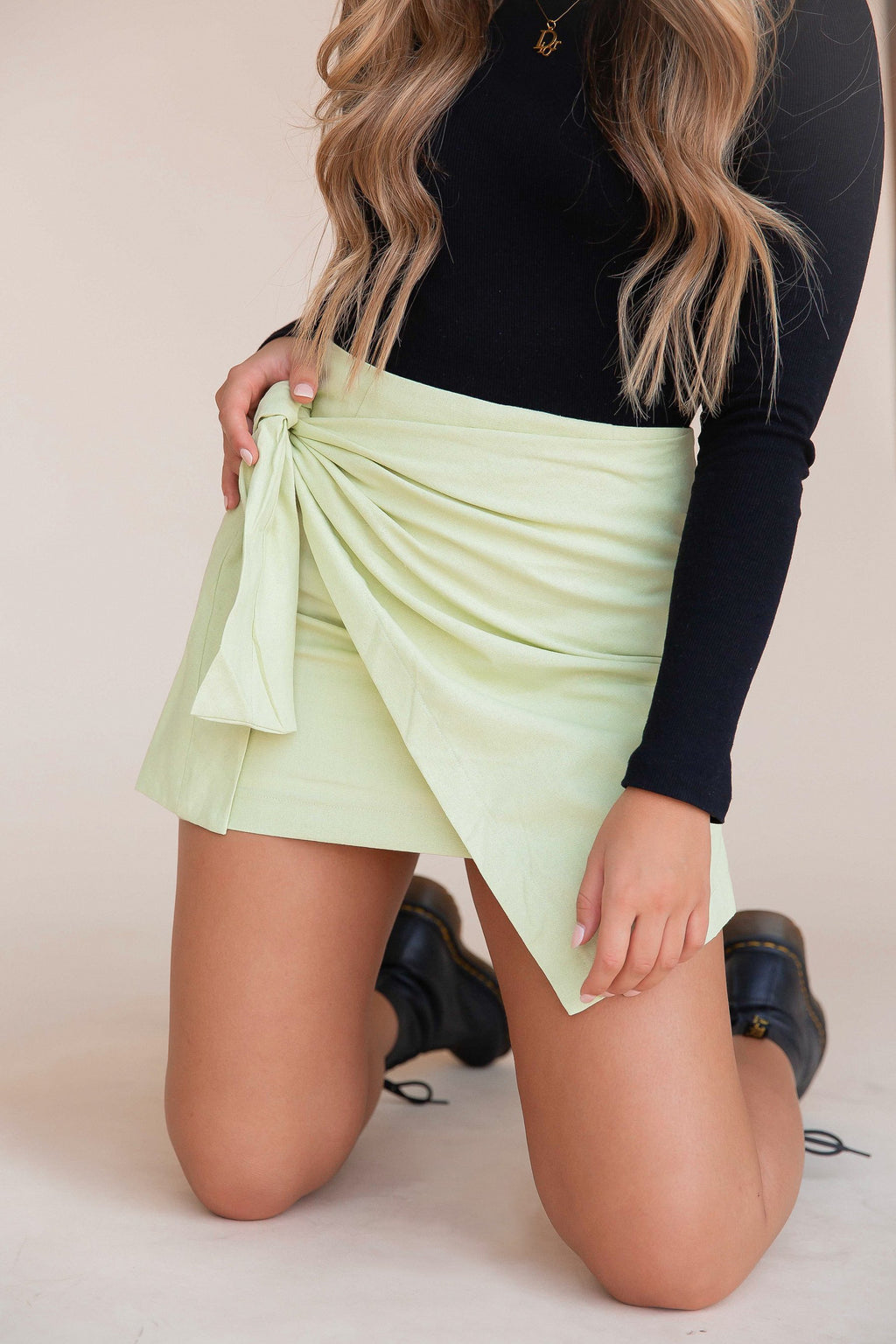 Chic Happens Pistachio Skirt