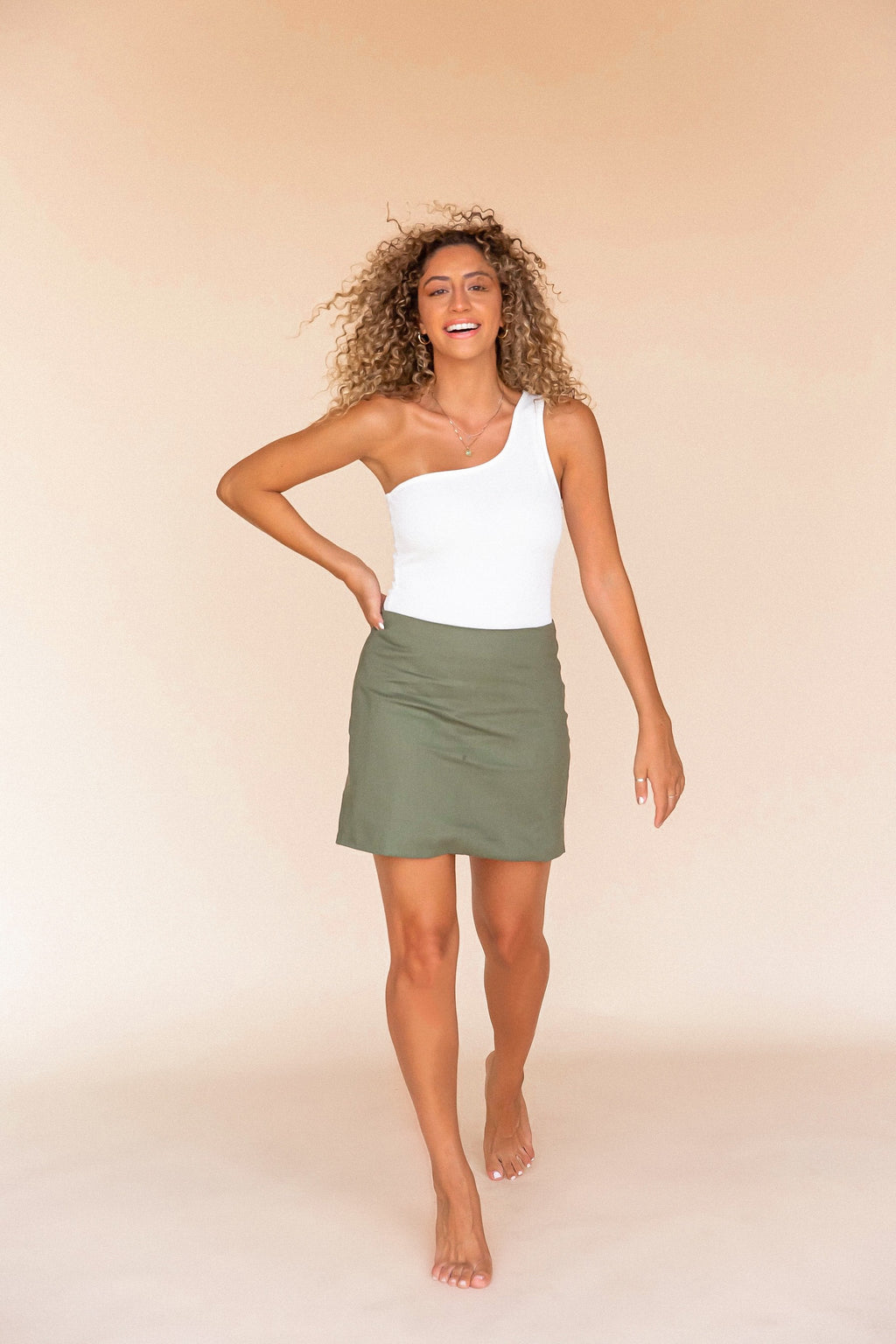 Mell Linen Skirt | Olive- FINAL SALE | LLACIE