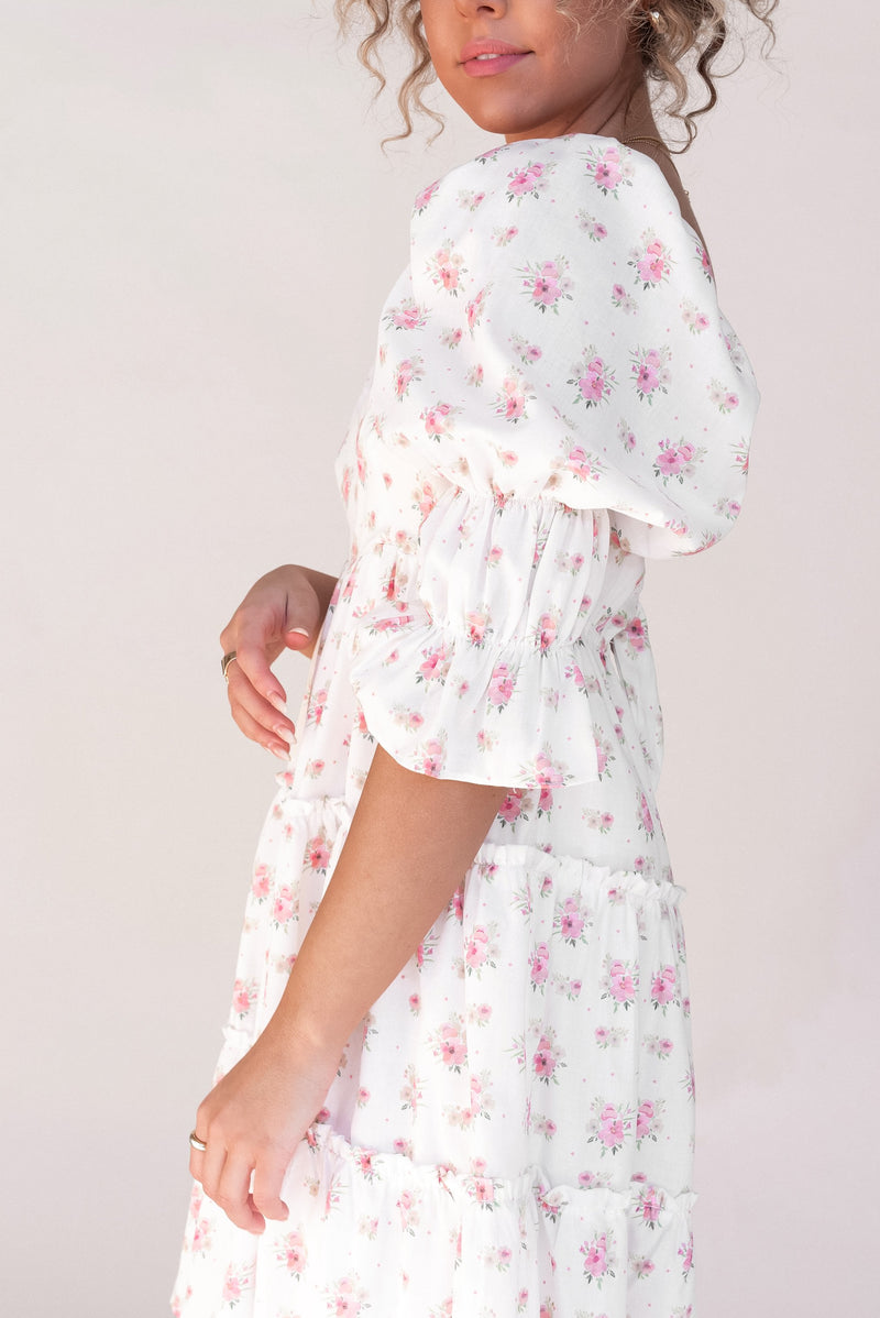 Dreamer Floral Tie Dress - LLACIE