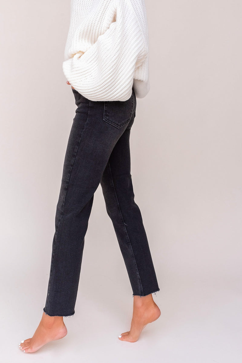 Cut Off Cropped Straight Leg Denim | LLACIE