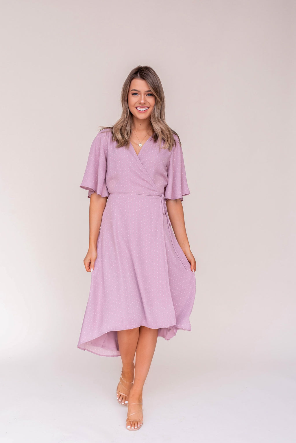 Lovell Mauve Midi Dress | LLACIE