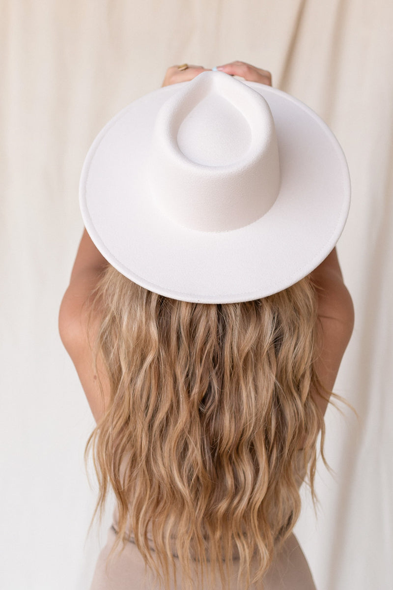 Emma Wool Cream Fedora Hat - LLACIE