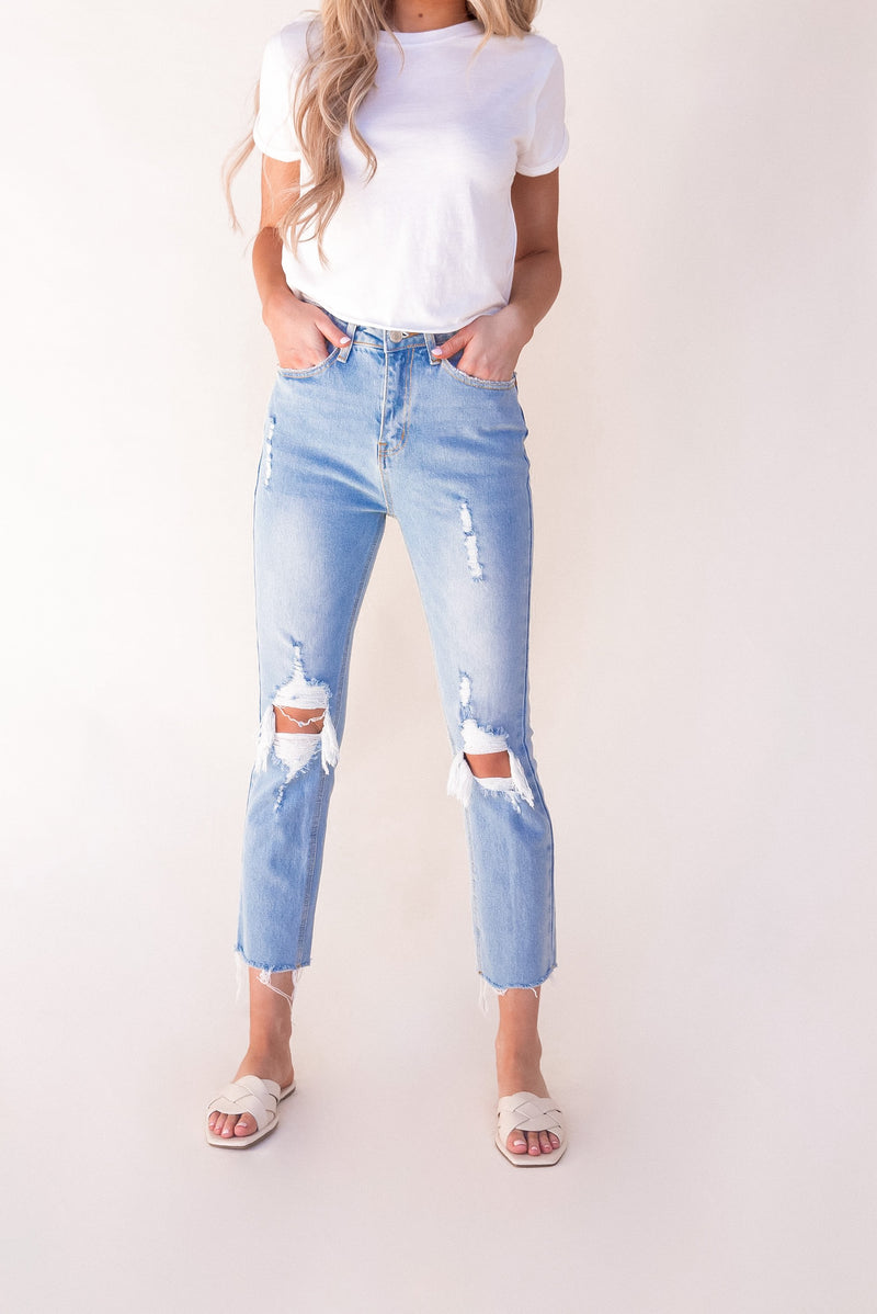 Jenny High Rise Straight Jeans - LLACIE