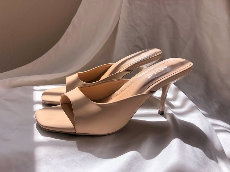 Nude Kitten Heel- FINAL SALE