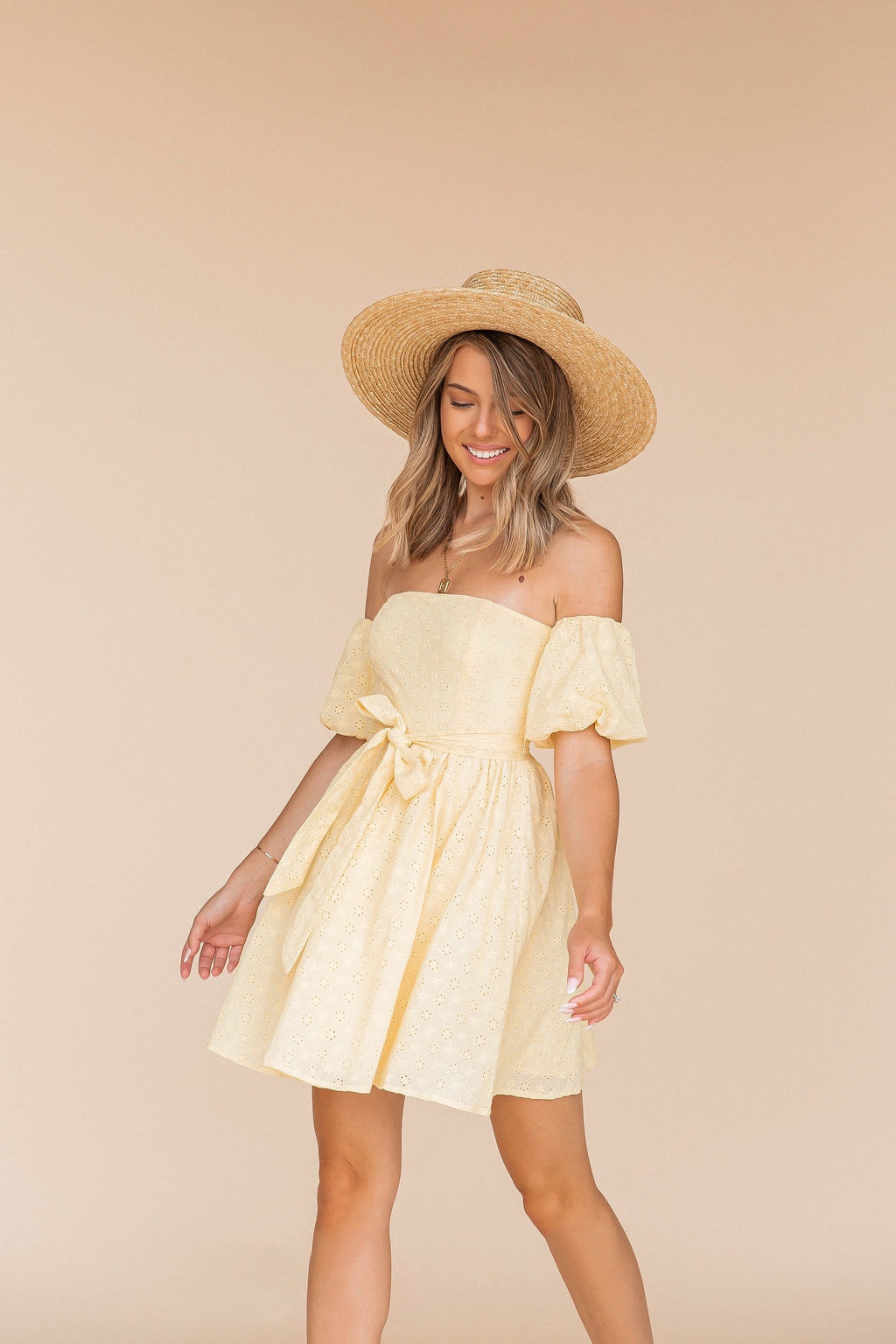 Sunflower Eyelet Dress- FINAL SALE | LLACIE