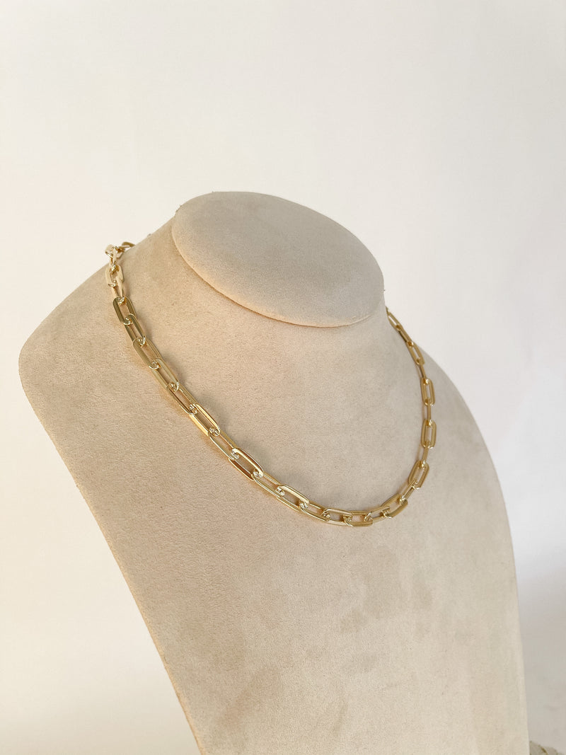 Gold Bold Link Chain Necklace | LLACIE