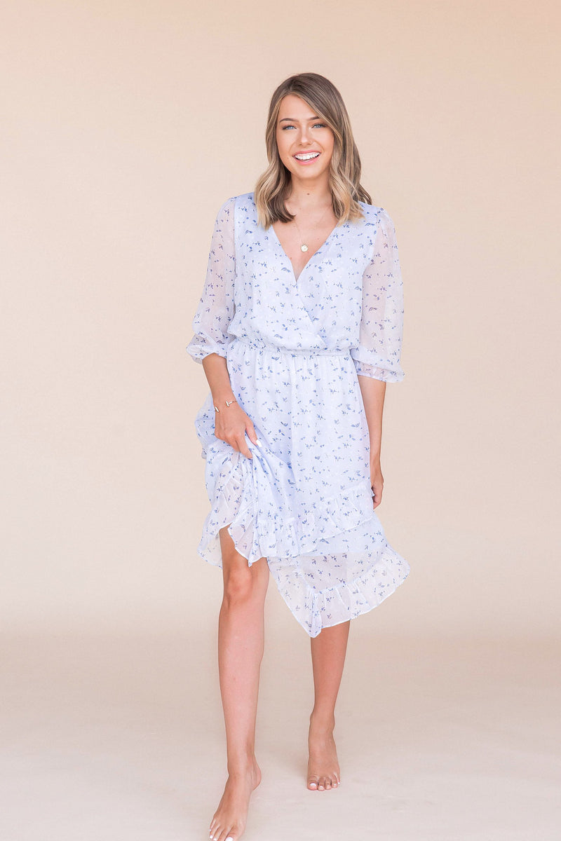 Beautiful Skies Midi Dress- FINAL SALE