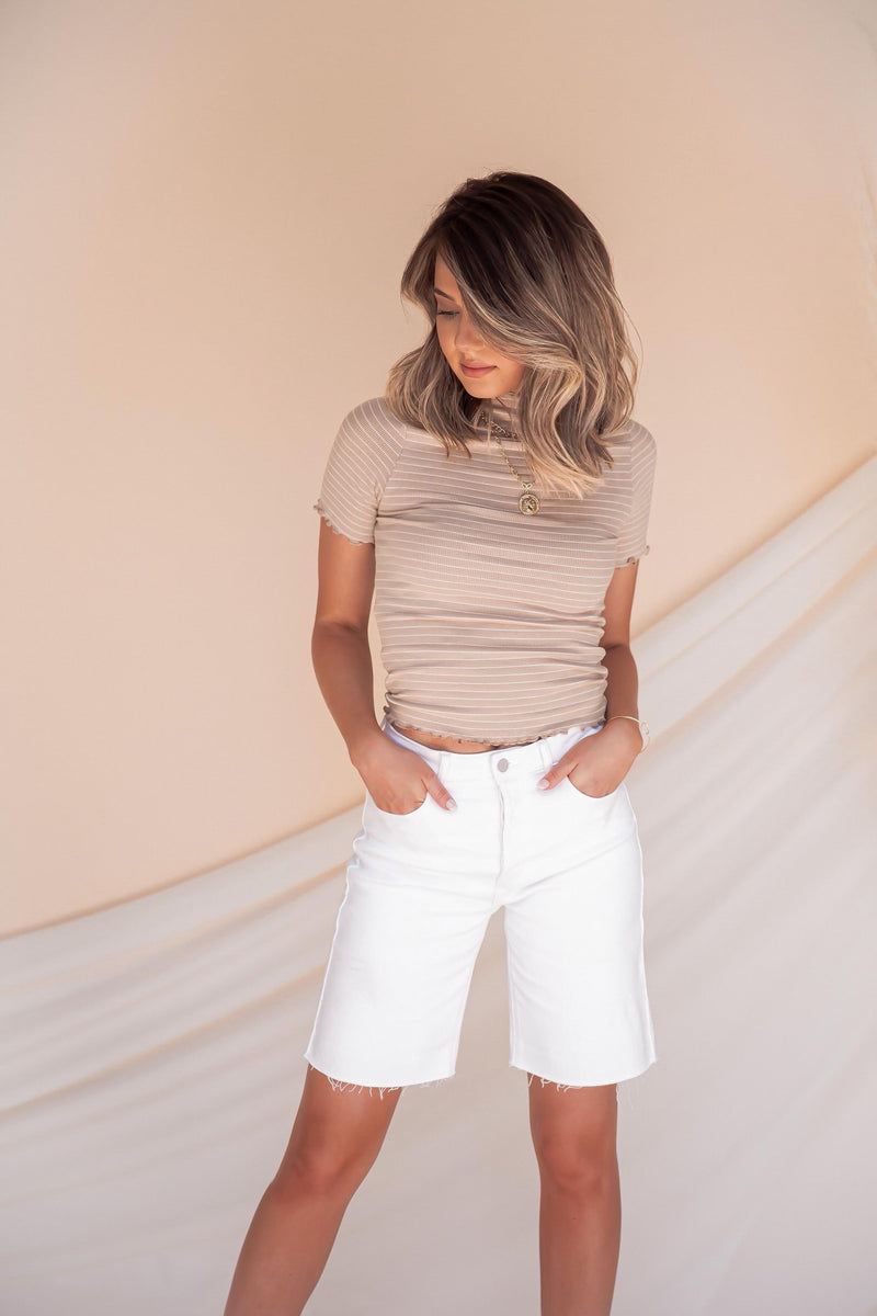 Afterglow High Rise Bermuda Shorts- FINAL SALE