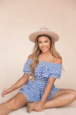 Catch Up Off Shoulder Gingham Set | LLACIE