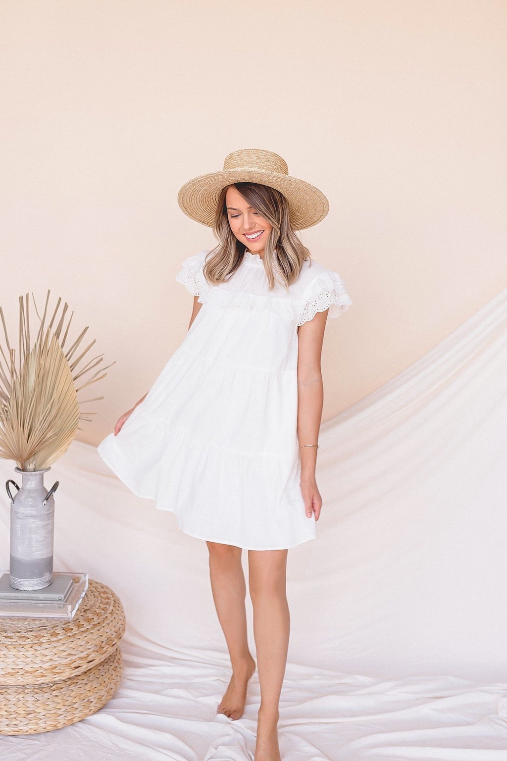 A Dream Eyelet Babydoll Dress- FINAL SALE | LLACIE