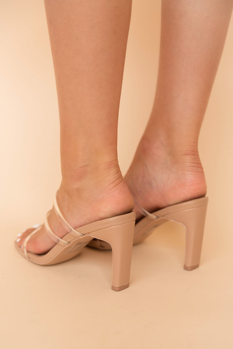 Kay Clear Strappy Heeled Sandals