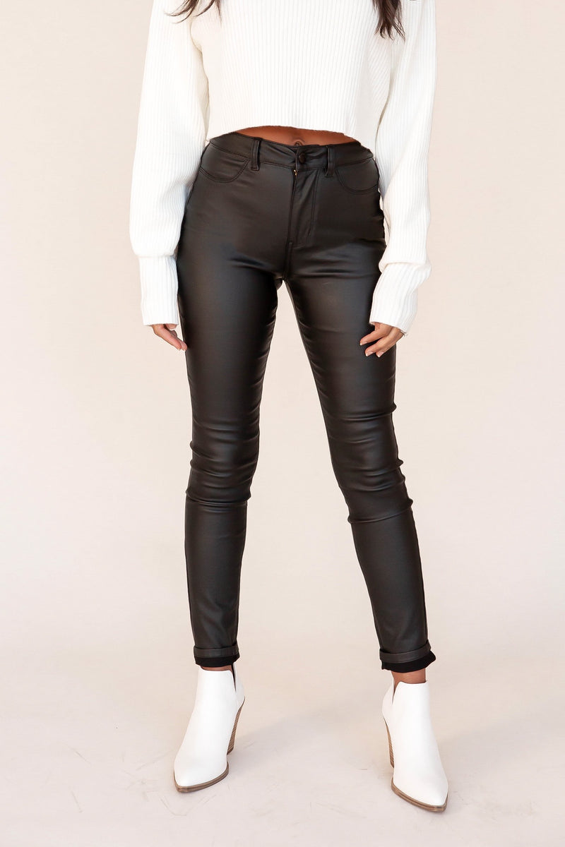 Steevie Faux Leather Pants | LLACIE