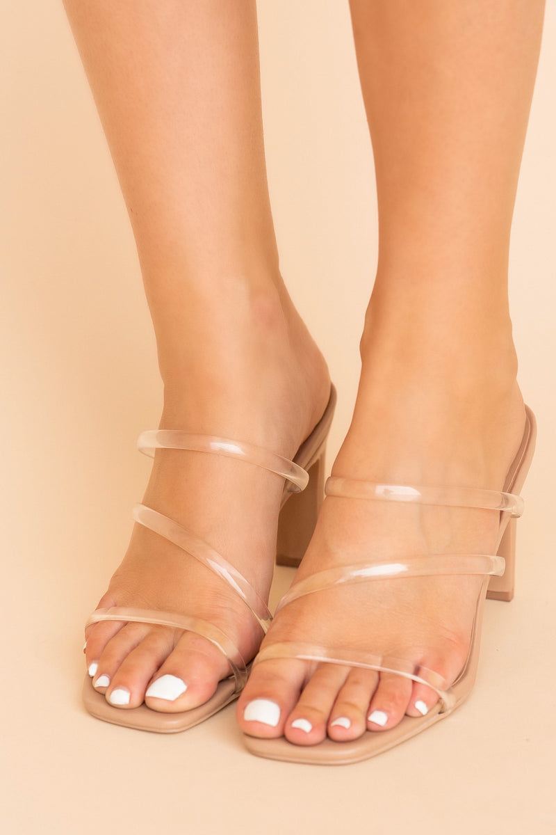 Kay Clear Strappy Heeled Sandals | LLACIE