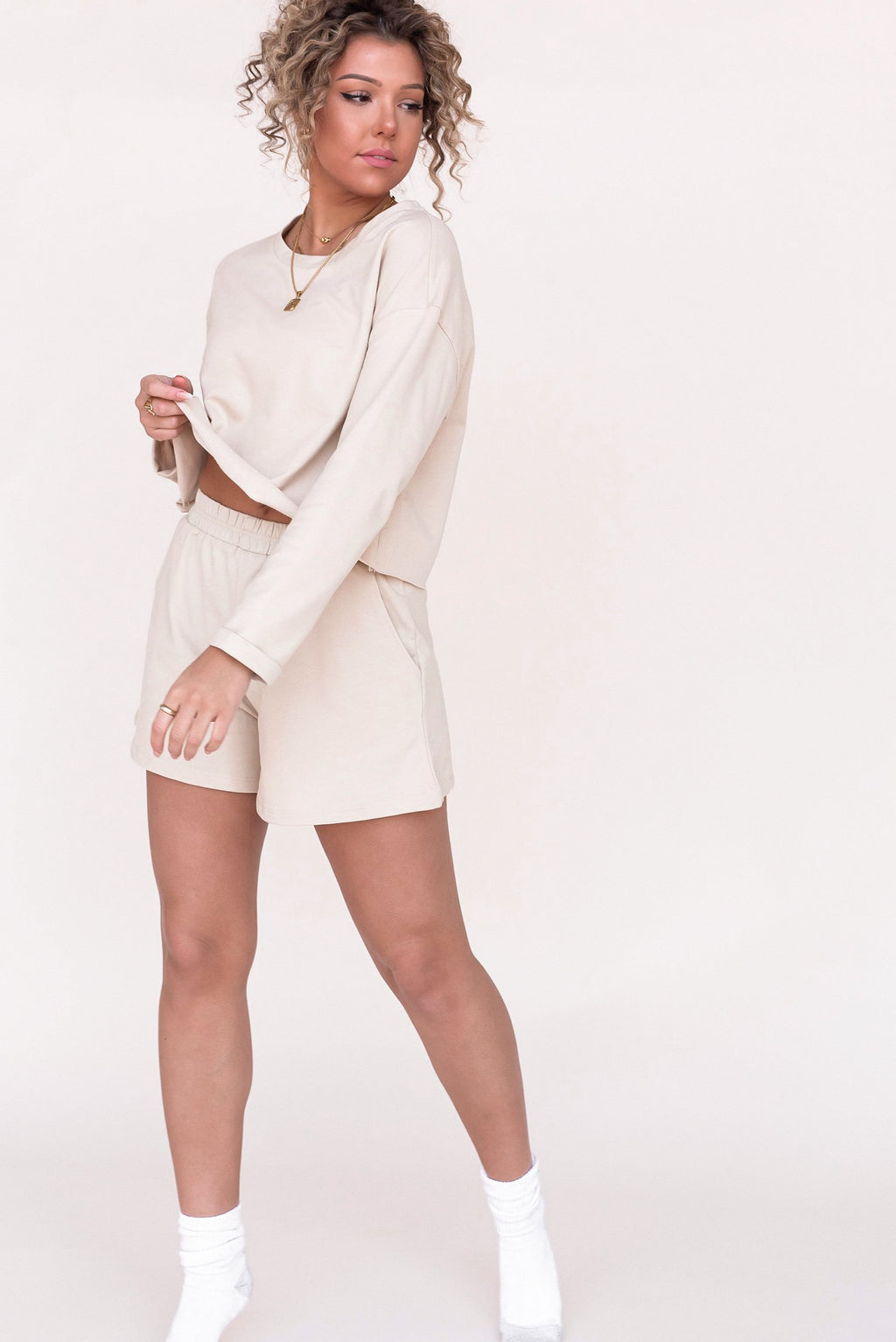 Madison Cotton Lounge Top and Shorts Set - LLACIE