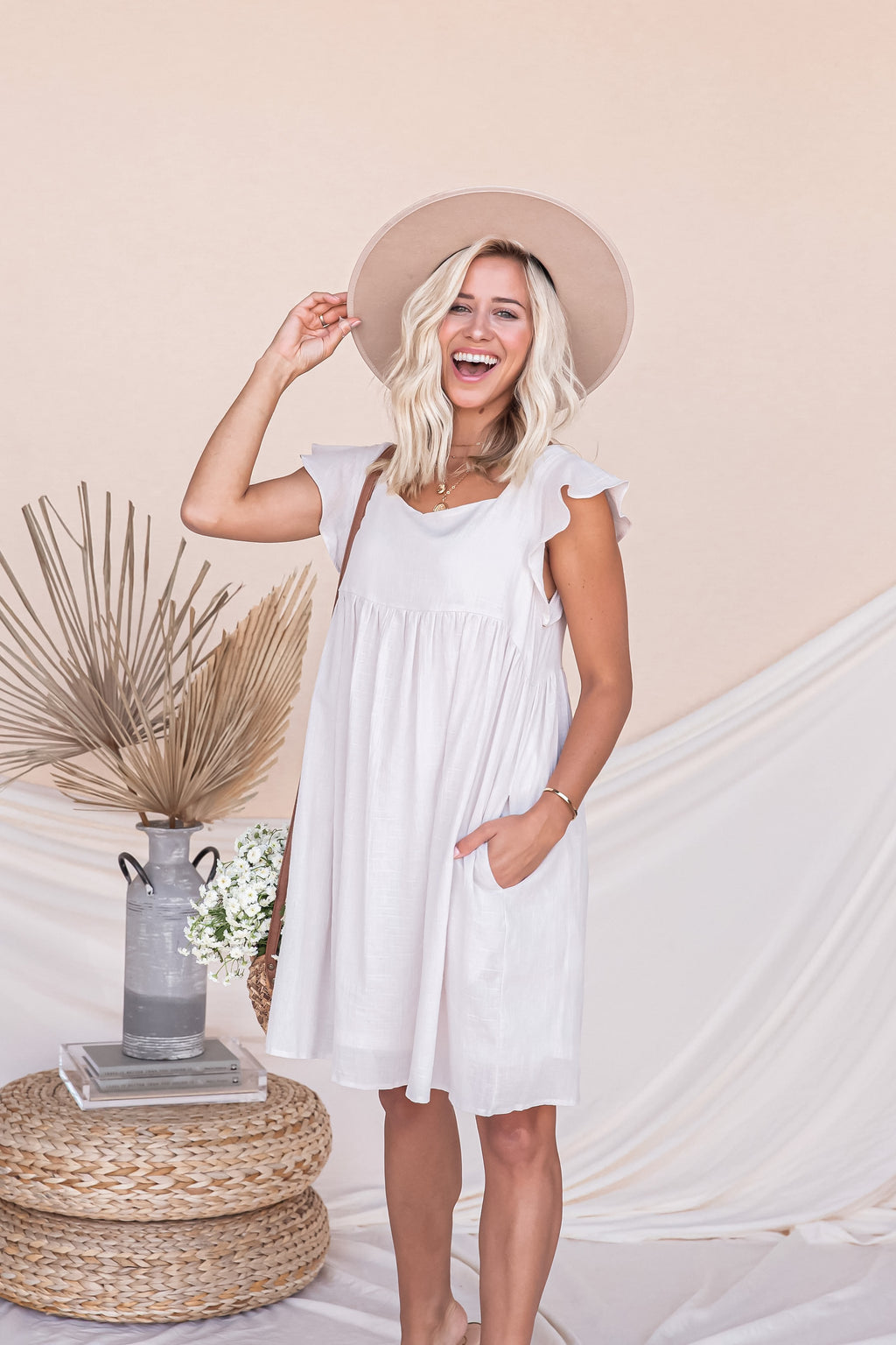 St Tropez Cotton Pocket Dress