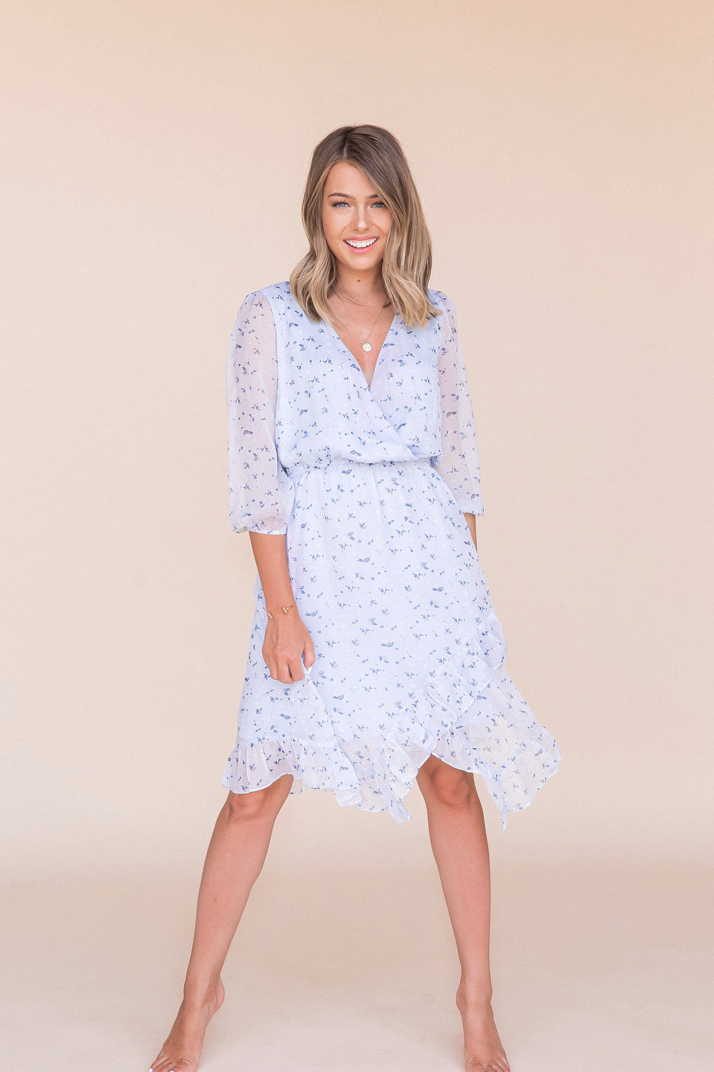 Beautiful Skies Midi Dress- FINAL SALE | LLACIE