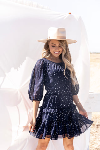 She's The Star Navy Dress