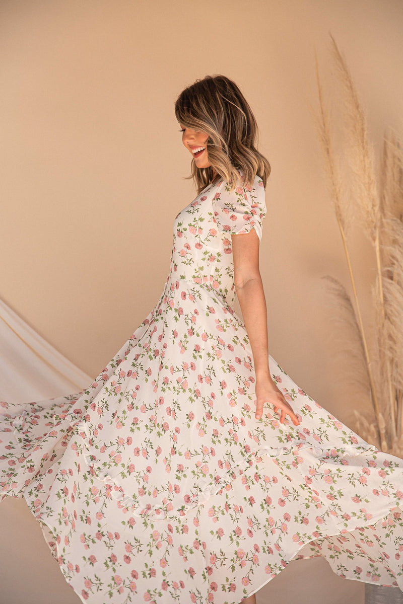 Smell The Roses Midi Dress