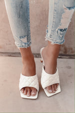 White Padded Sandals- FINAL SALE | LLACIE