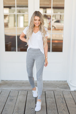 Active Mid-Rise Grey Leggings