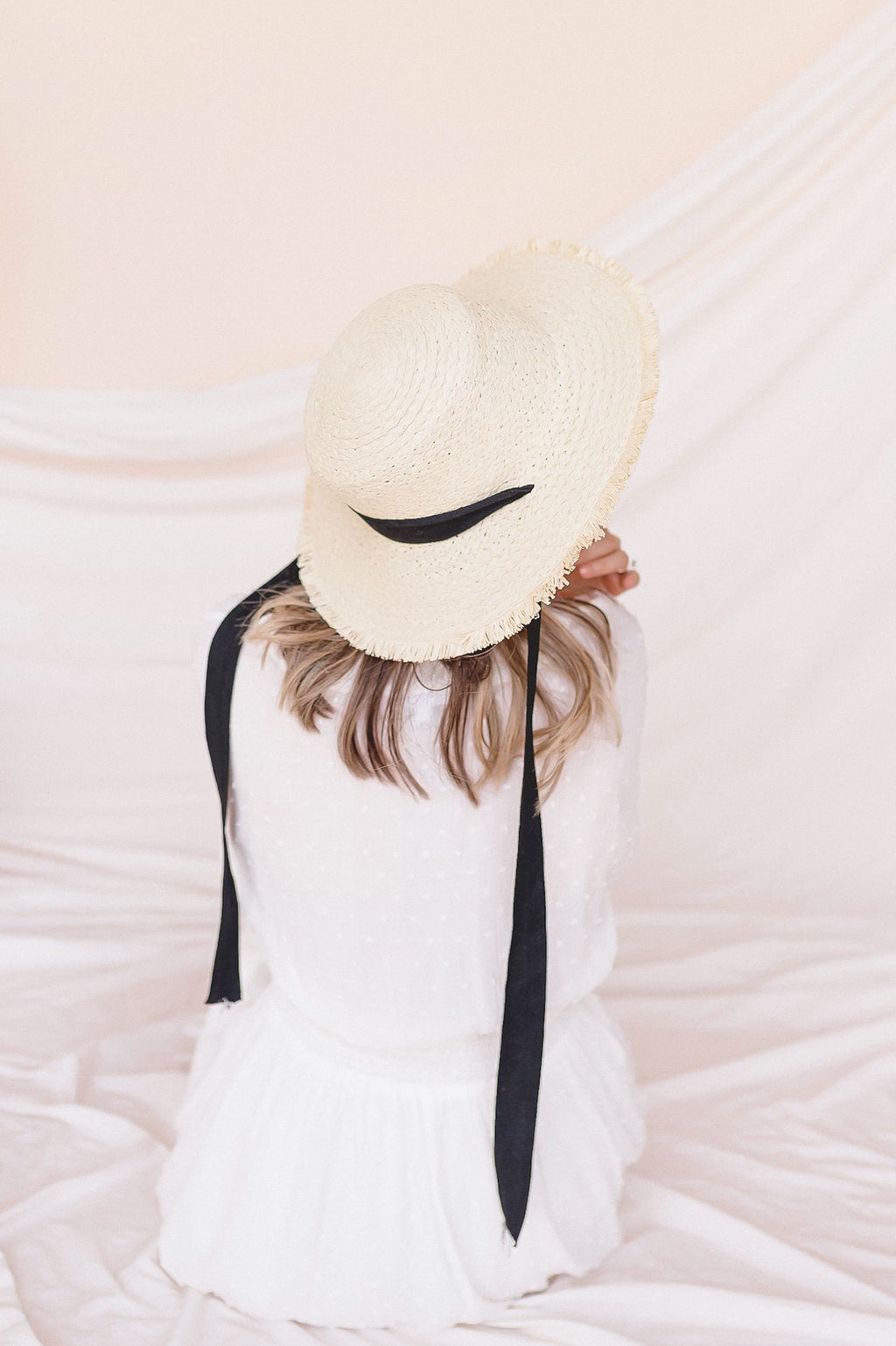 Ribbon Tie Boater Hat