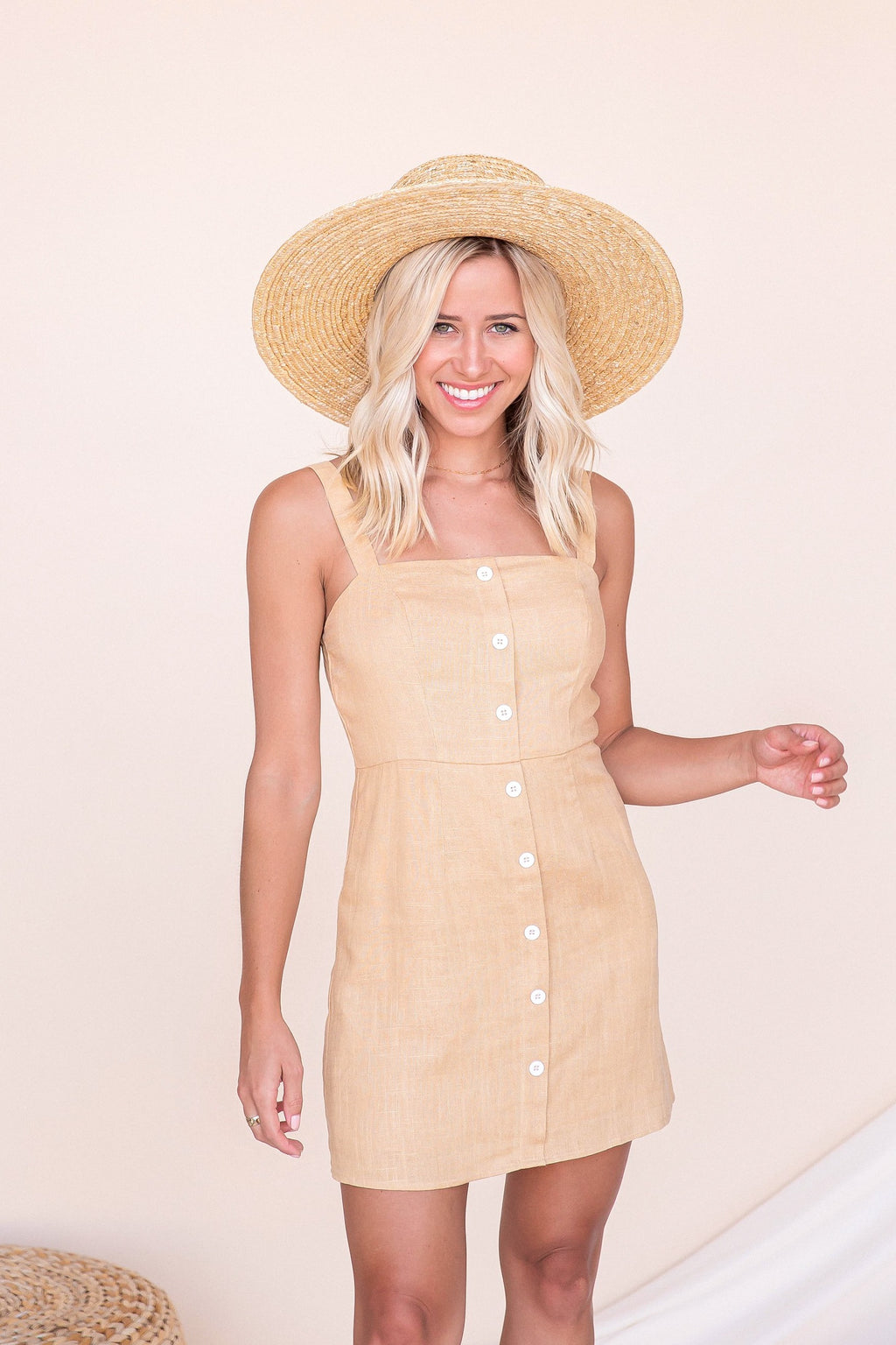 Soybean Linen Dress- FINAL SALE | LLACIE