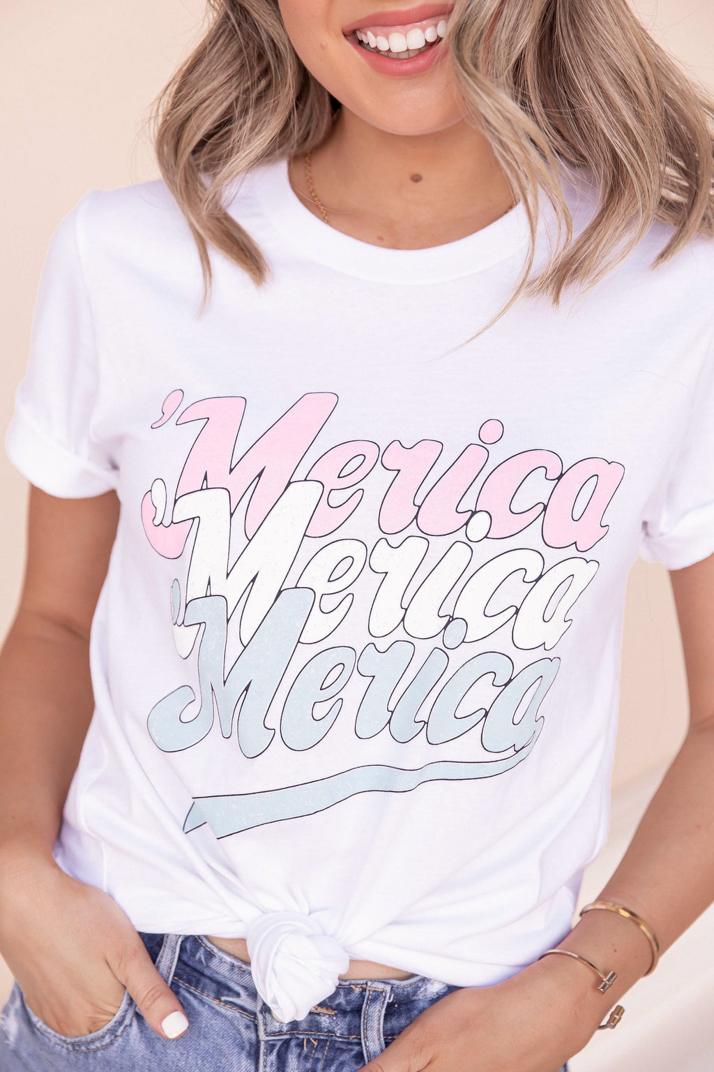 Merica Graphic Tee- FINAL SALE | LLACIE