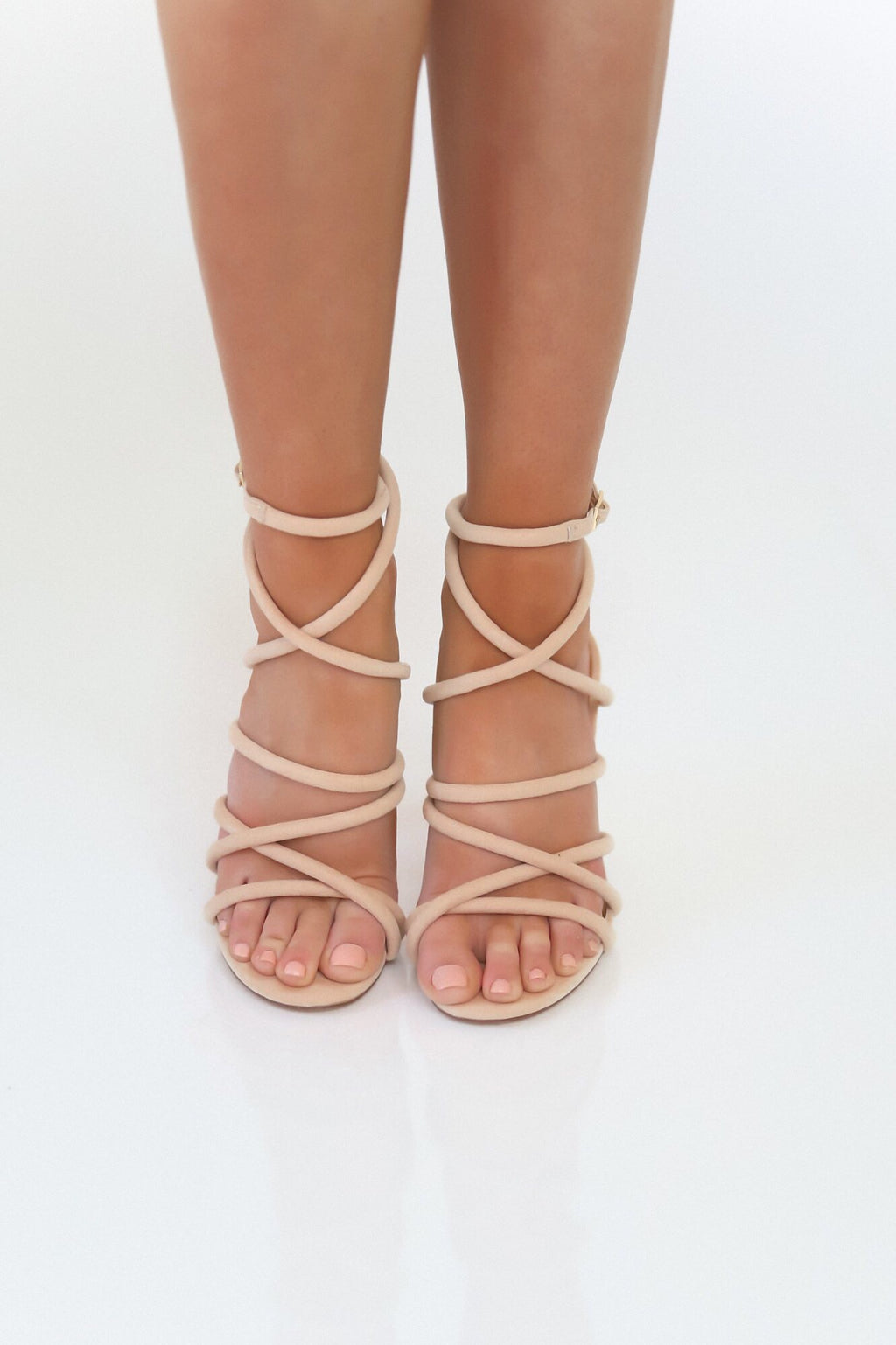Stacked Bundles Strappy Heels - llacie