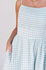 Minnie Pocket Mint Gingham Dress - LLACIE