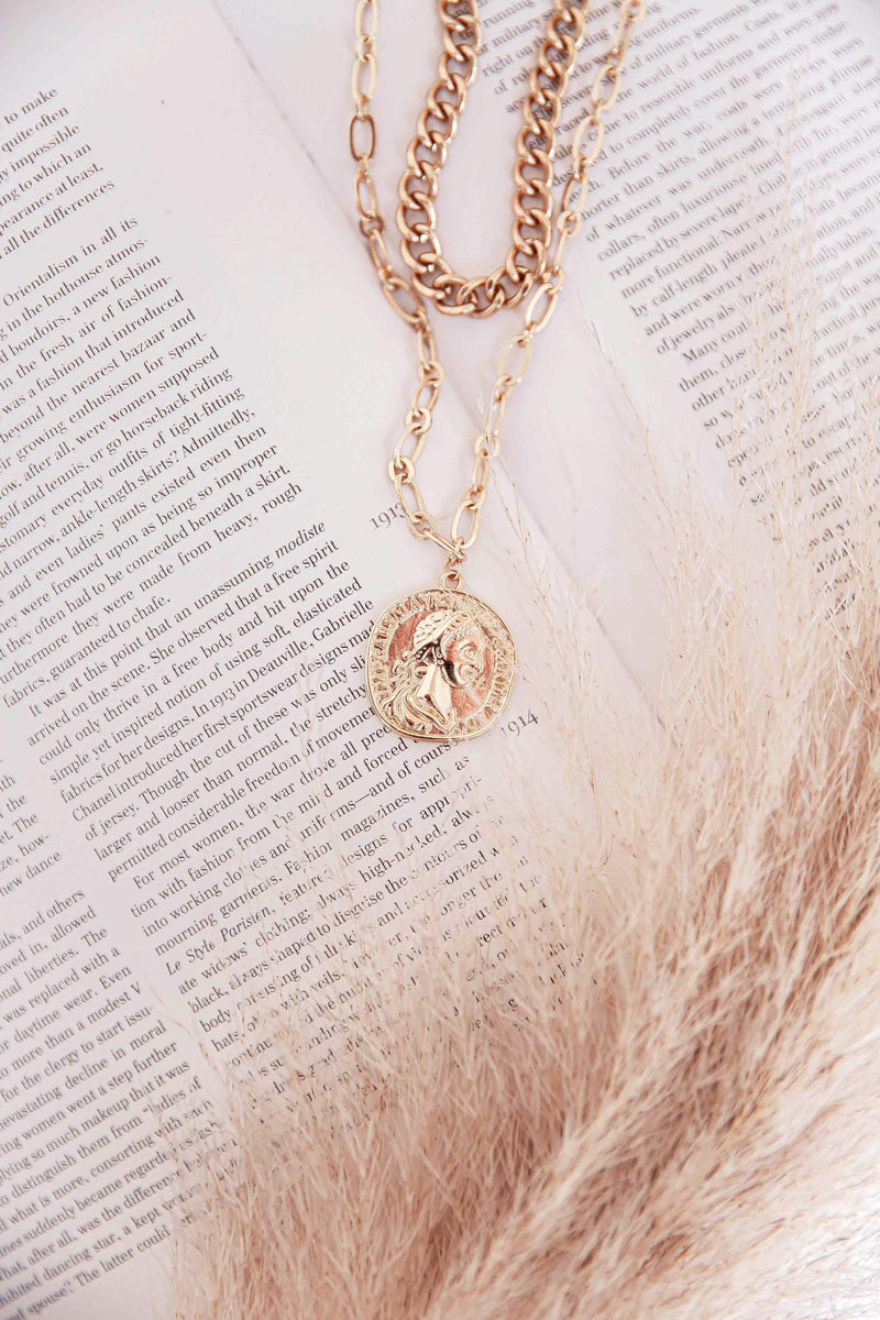 Mili Layered Coin Necklace
