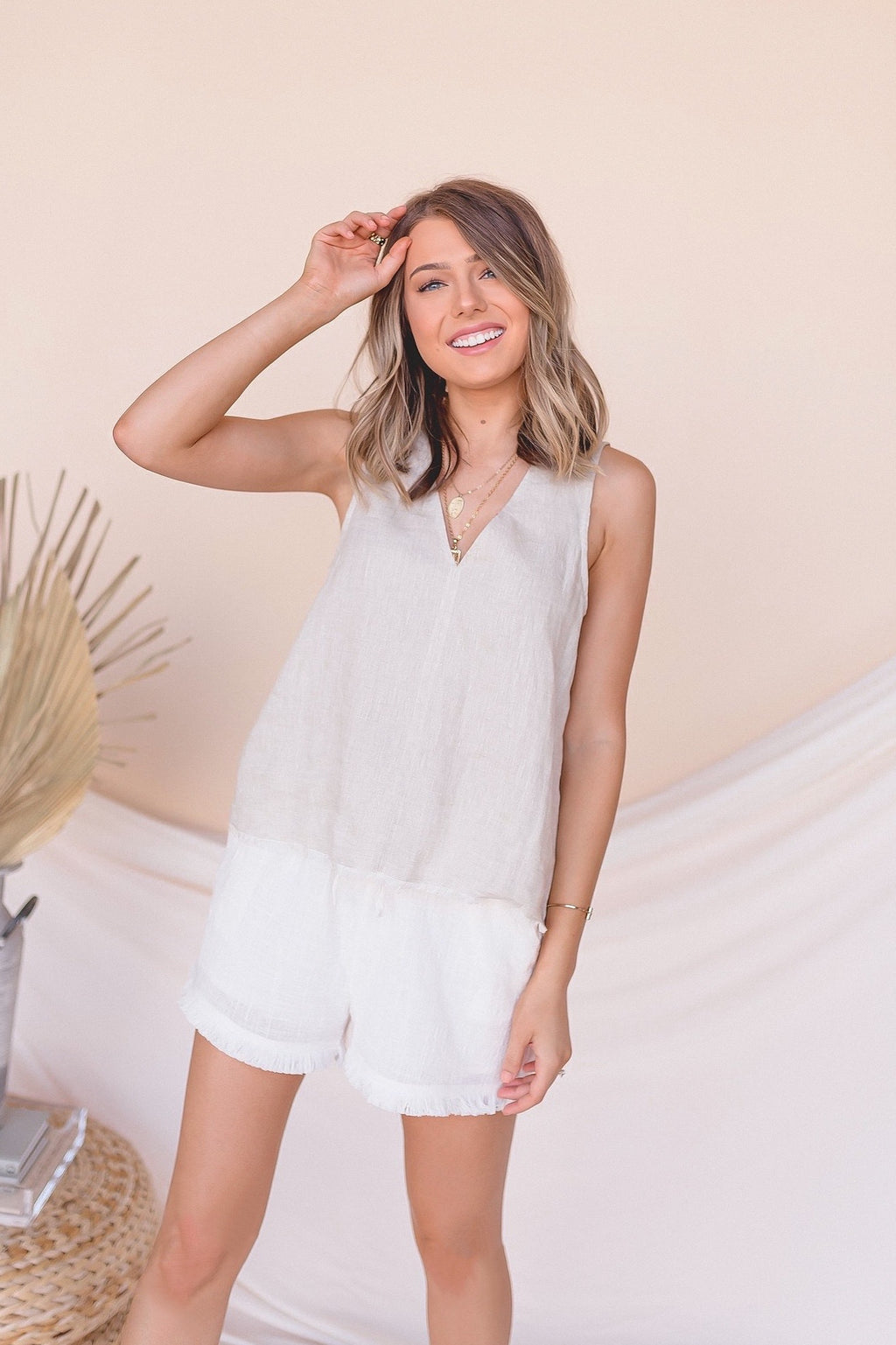 Easy Breeze Linen Tank- FINAL SALE | LLACIE