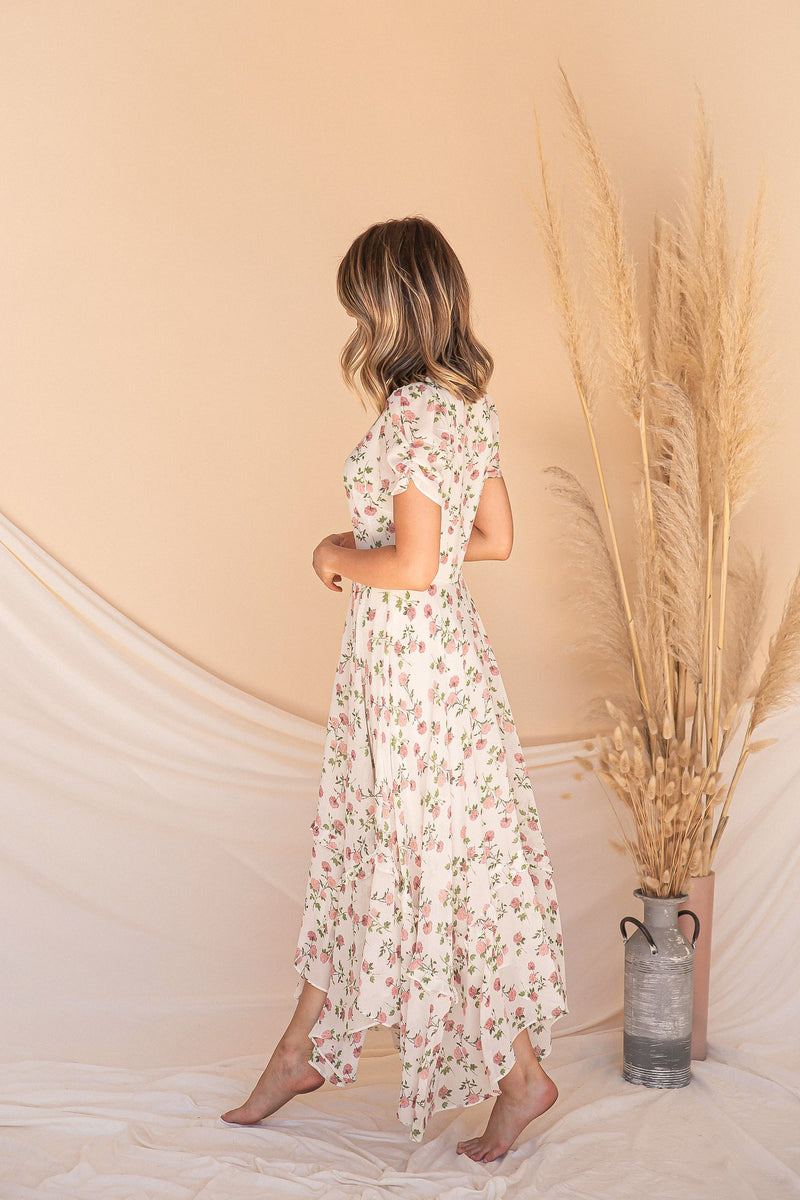 Smell The Roses Midi Dress- FINAL SALE