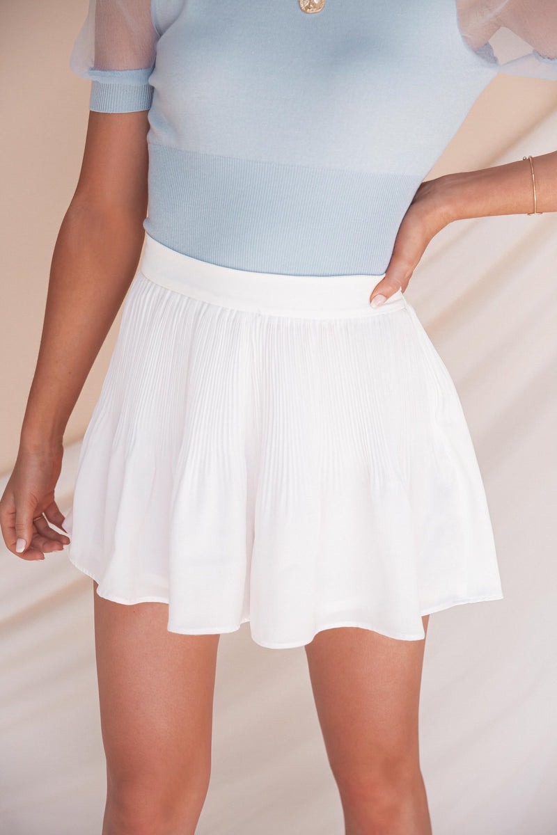 Meghan Pleated Shorts- FINAL SALE
