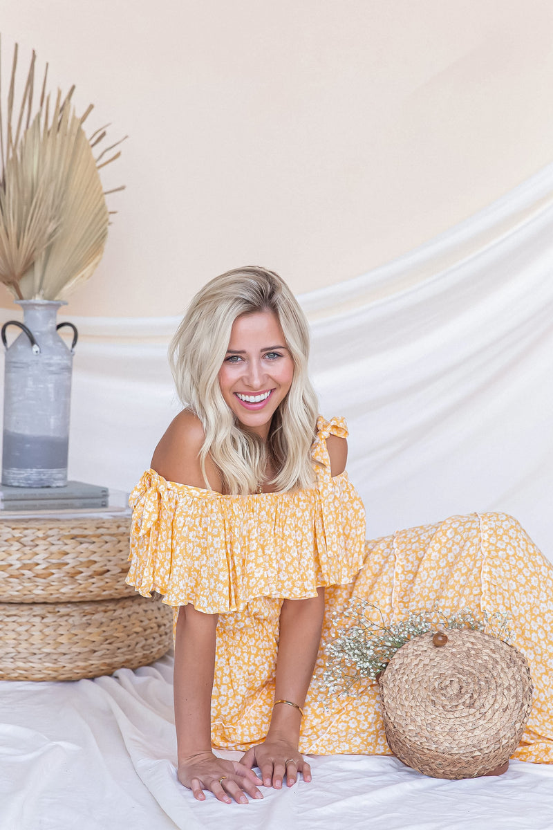 Daisy Maxi Dress | Yellow- FINAL SALE