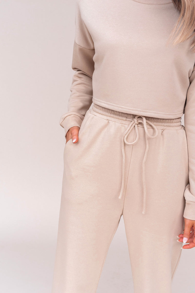 Coco Tan Sweater And Jogger Set | LLACIE