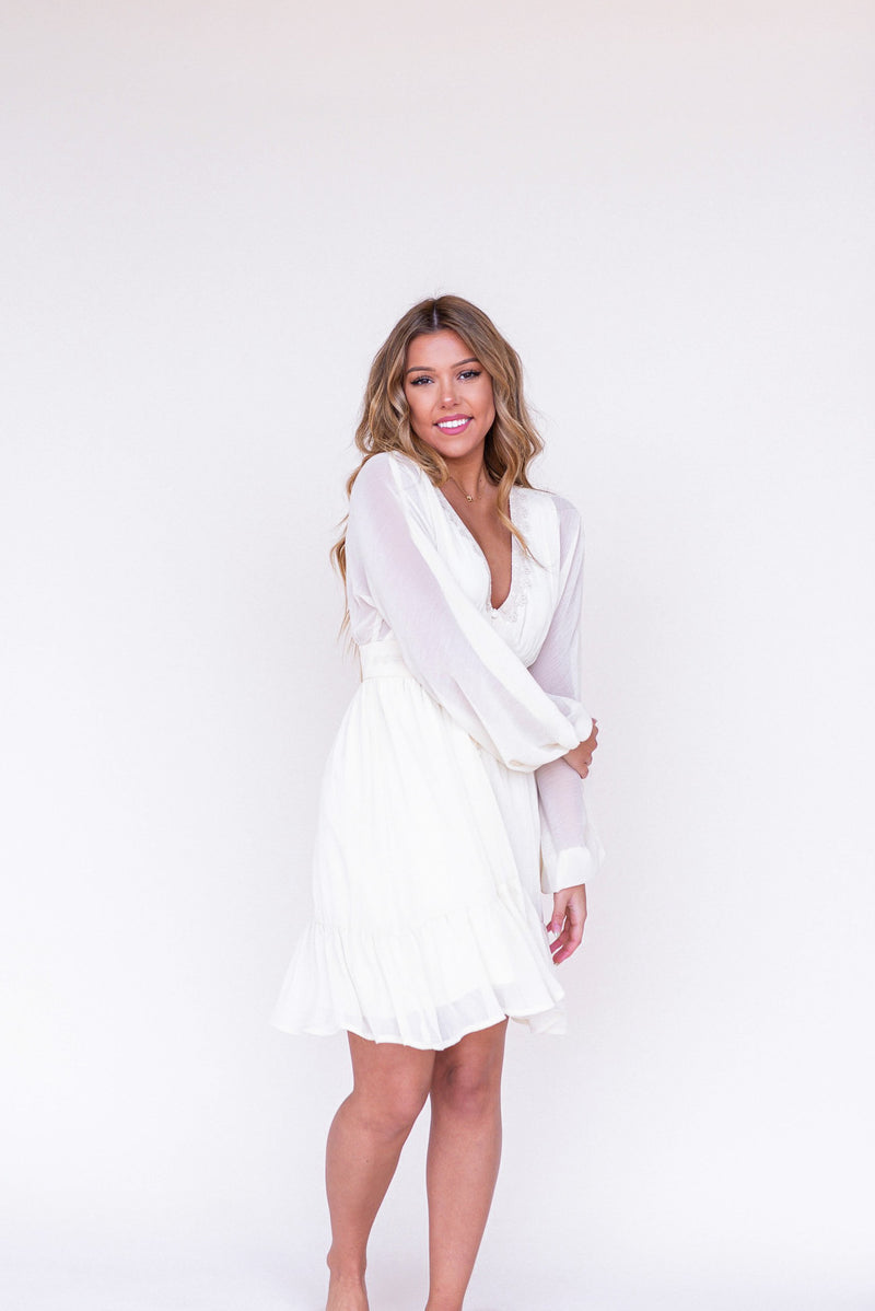 Willow Cream Lace Dress - LLACIE
