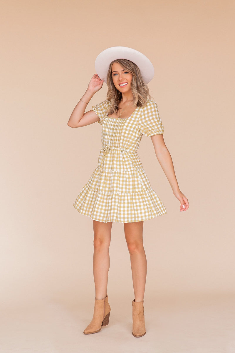 Justina Gingham Dress- FINAL SALE | LLACIE