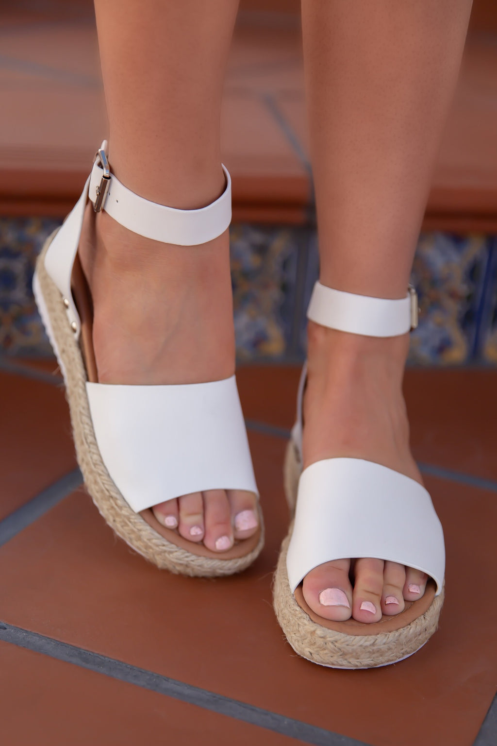 White Platform Espadrille Sandals- FINAL SALE