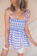 Summer Day Gingham Top- FINAL SALE