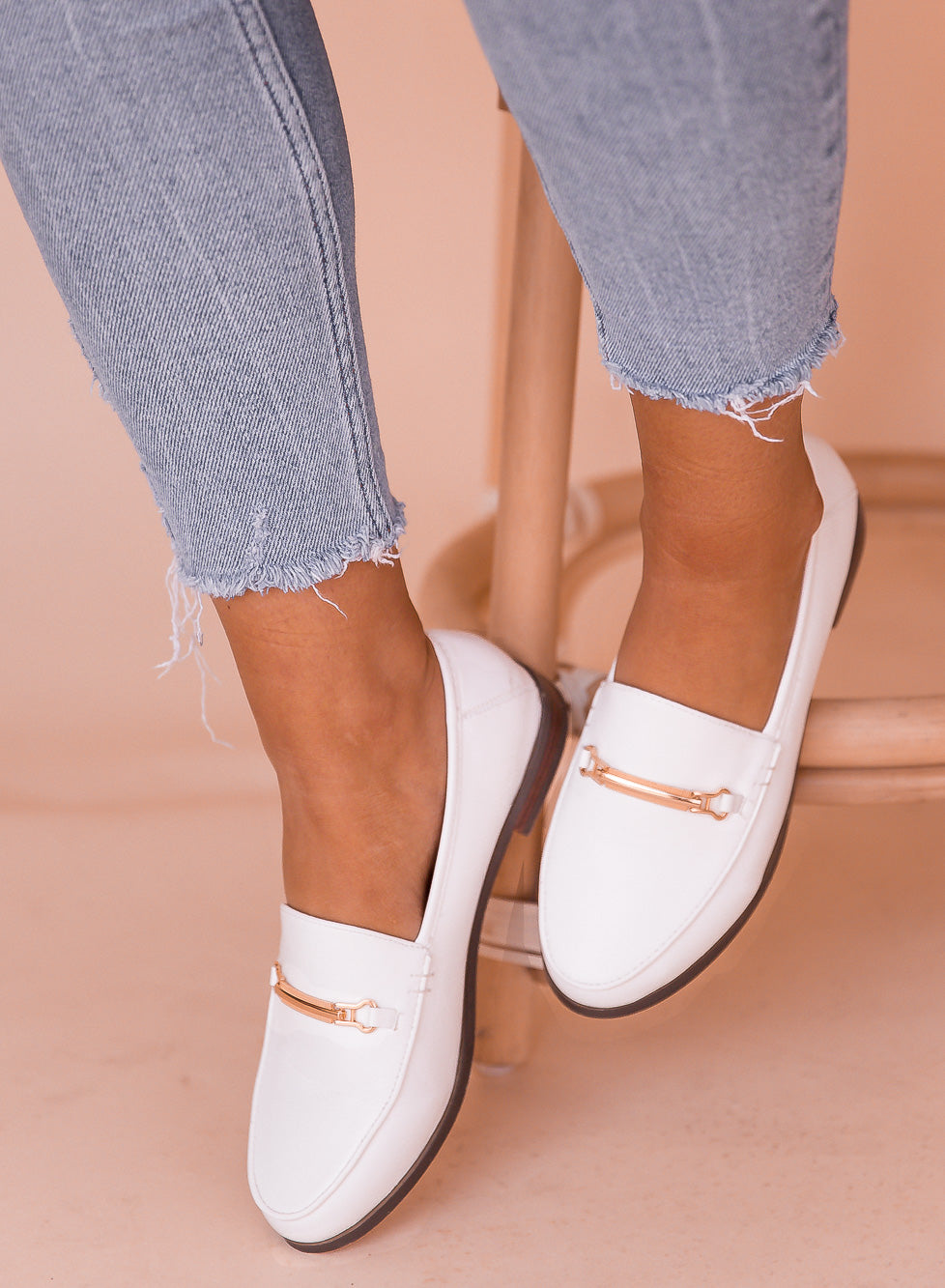 Jordi White Loafers- FINAL SALE