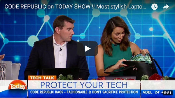 CODE REPUBLIC on TODAY SHOW!! Protect Your Tech in Style
