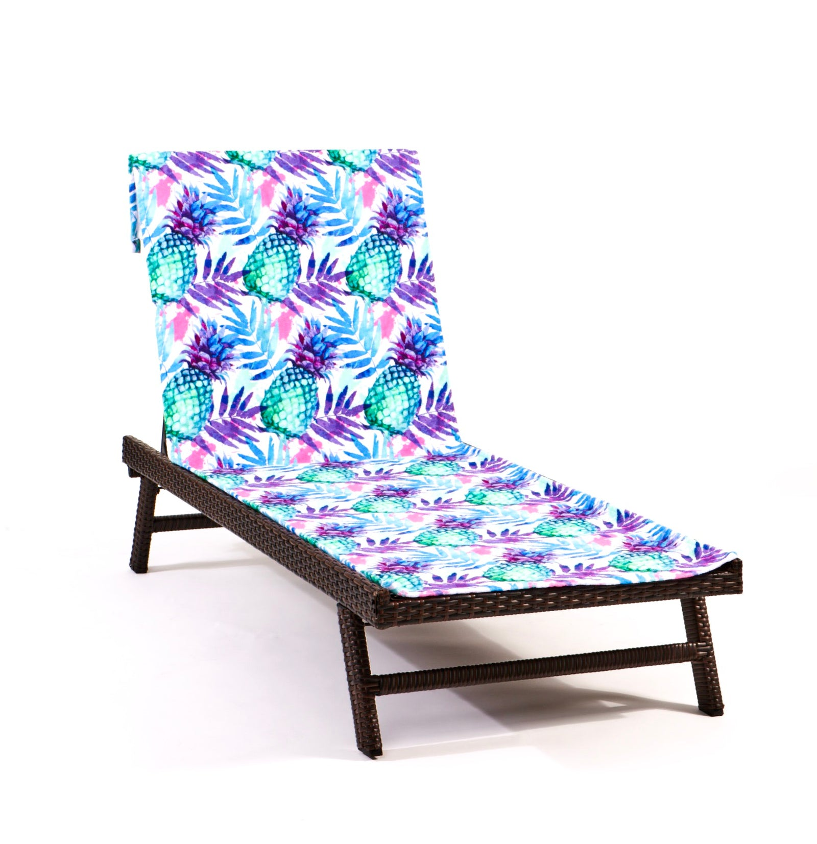 Pineapple Express Lounge Chair-Length Beach Towel