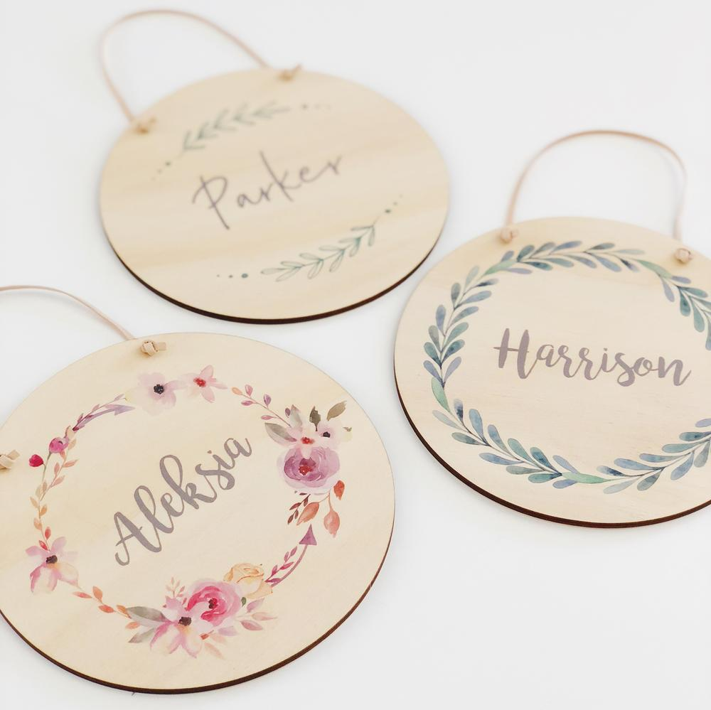 Name Plaques - multiple designs