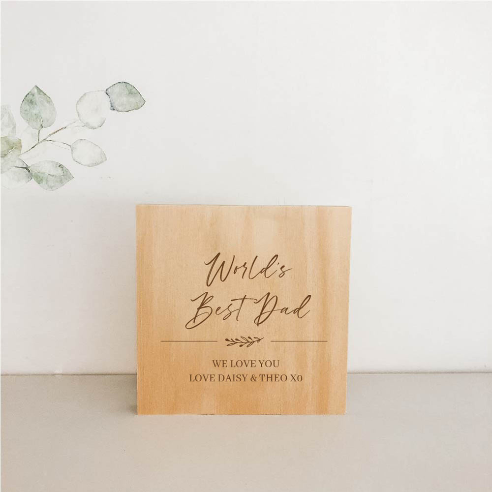 Standing Wooden Plaques for Dad 15cm