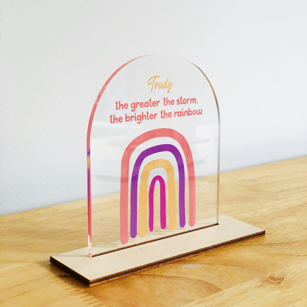 Feel Good Standing Plaques - Rainbow