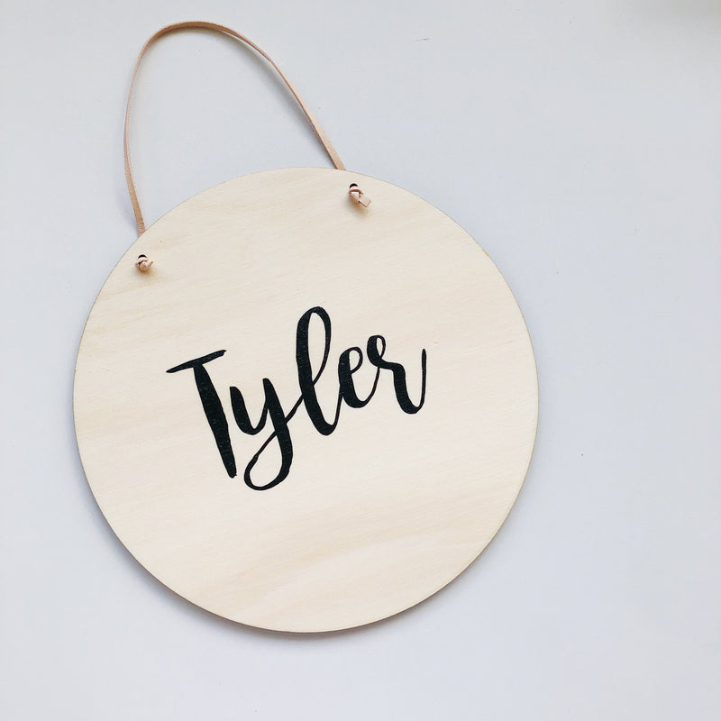 Minimalist Name Plaques - multiple designs (custom)