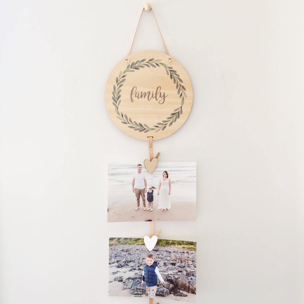 Family Green Wreath Memory Drops