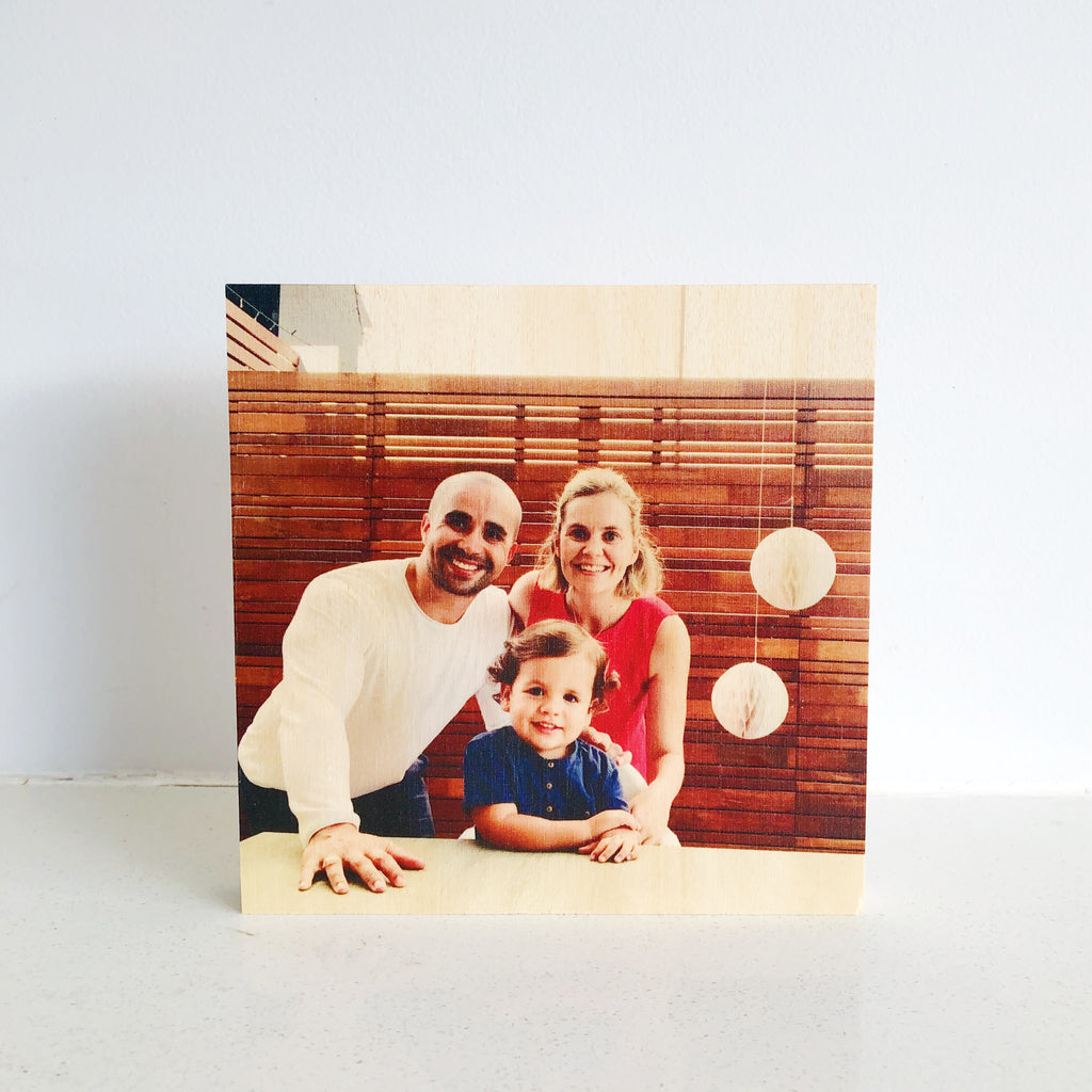 Wooden Photo Blocks 15cm